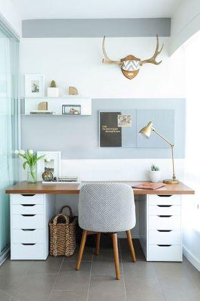 """25 idéias de decoração para escritório em casa """"homeoffice"""""""
