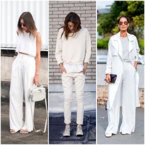 "Tendência ""All white"": look todo branco –2019"